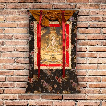 "Thangka ""White Tara"" real Buddhist traditional painting : buy from our exclusive Tibetan ritual art collection — DharmaCraft"