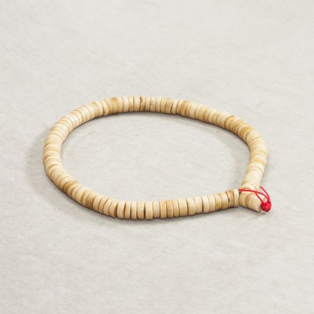 Exclusive traditional 108-bead mala from yak bone — 16 mm