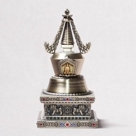 Buddhist figurine Stupa of Nirvana devoted to the death of Lord Buddha : buy from our tibetan statues collection — DharmaCraft