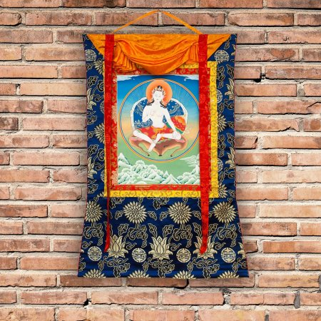 "Thangka ""Great Dzogchen Teacher Garab Dorje"" Buddhist traditional painting : buy from our Tibetan art collection — DharmaCraft"