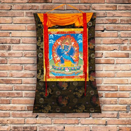 "Thangka ""Yamantaka (Vajrabhairava)"" Buddhist traditional painting : buy from our Tibetan ritual art collection — DharmaCraft"