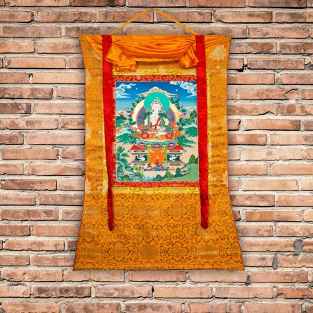 "Thangka ""Vajrasattva aka Dorje Sempa"" Buddhist traditional painting : buy from our Tibetan ritual art collection — DharmaCraft"