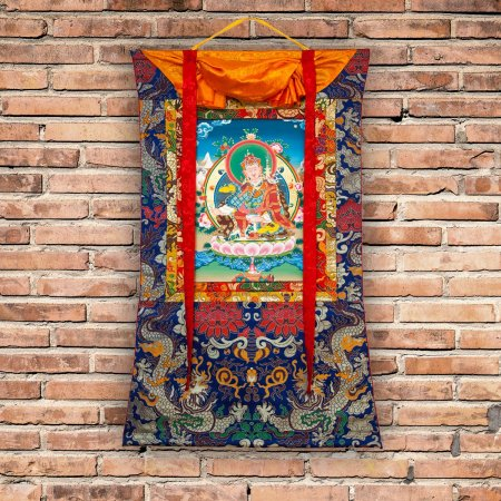 "Thangka ""Padmasambhava aka Guru Rinpoche"" Buddhist traditional painting : buy from Tibetan ritual art collection — DharmaCraft"