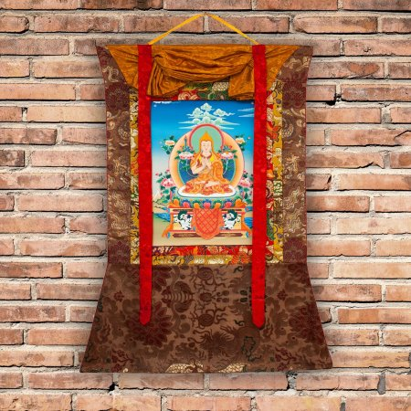 "Thangka ""Lama Tsongkhapa aka Je Rinpoche"" Buddhist traditional painting : buy from Tibetan ritual art collection — DharmaCraft"
