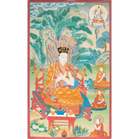 "Thangka ""8th Karmapa Mikyö Dorje"" Great Kagyu teacher, buy from Tibetan fine art collection — DharmaCraft"