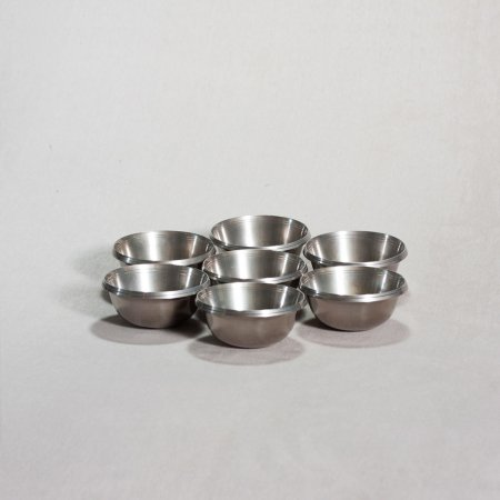 Set of 7 Tibetan offering bowls — 9 cm