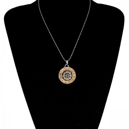Pendant with mantra and Astrological Symbols
