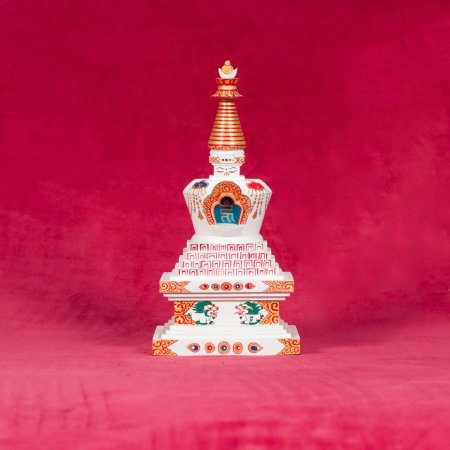 Wooden Stupa of Many Doors — 22 cm