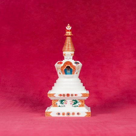 Wooden Stupa of Complete Victory — 22 cm