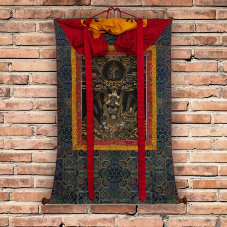 "Thangka ""Great Teacher of Dzogchen — Garab Dorje"" real traditional painting, buy from DharmaCraft's Tibetan art collection"