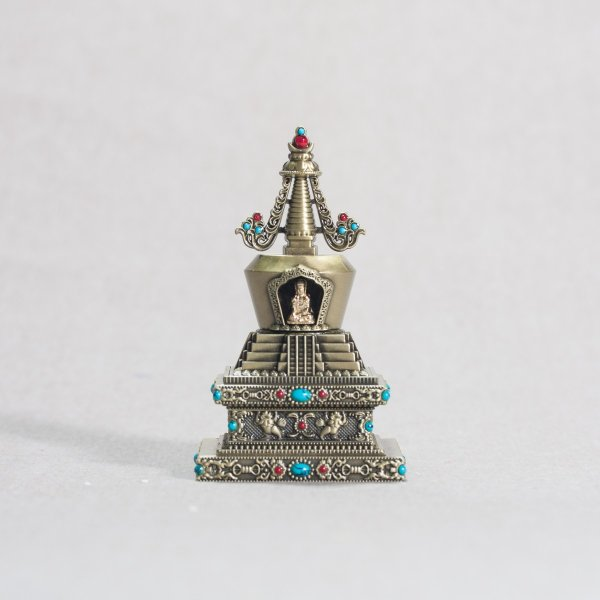 Buddhist figurine Stupa of Descent from the God Realm : buy from our tibetan statues collection — DharmaCraft
