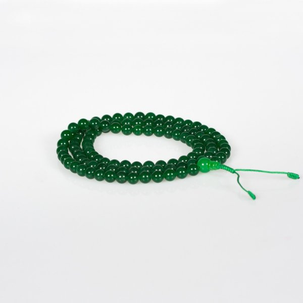 Buddhist traditional 108-beads mala made from Jade : buy from our Tibetan ritual goods collection — DharmaCraft
