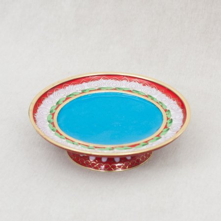 Basement Plate for Small Buddhist Mandala — Red color