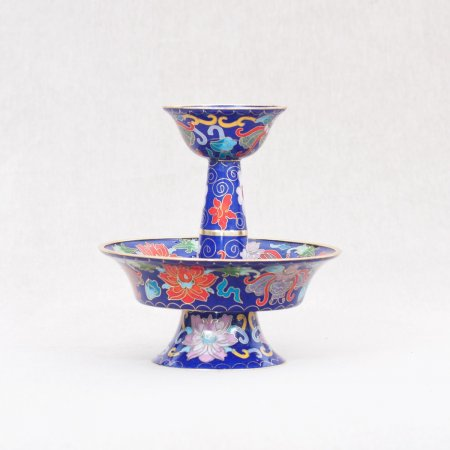 Big Serkyem set decorated with cloisonne — Blue Color