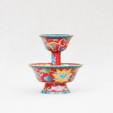 Tiny Serkyem decorated with cloisonne — Red Color