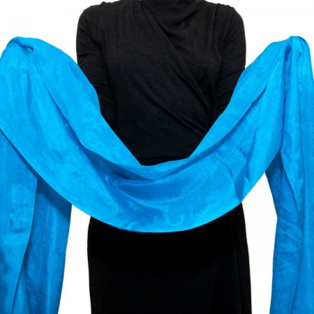 Blue Silk Khata — Ceremonial scarf