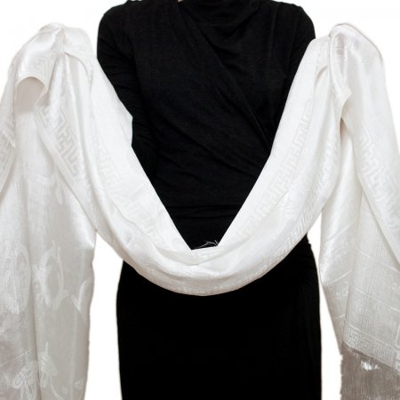White Silk Khata — Ceremonial scarf