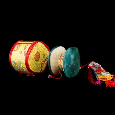 Tibetan traditional drum Kapala Damaru for tantric practices : buy from our Buddhist ritual goods collection — DharmaCraft