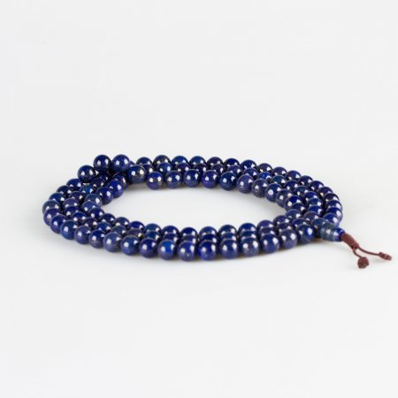 Traditional 108 beads Lazurite Mala — 9 mm