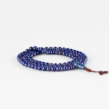 Traditional 108 beads Lazurite Mala — 6 mm