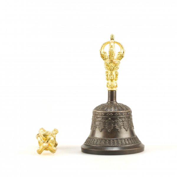 Tibetan traditional bell & dorje for tantric practices : buy from our Buddhist ritual goods collection — DharmaCraft