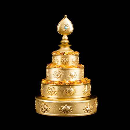 Tiny Buddhist mandala set from Eastern Tibet : buy from our Tibetan ritual goods collection — DharmaCraft