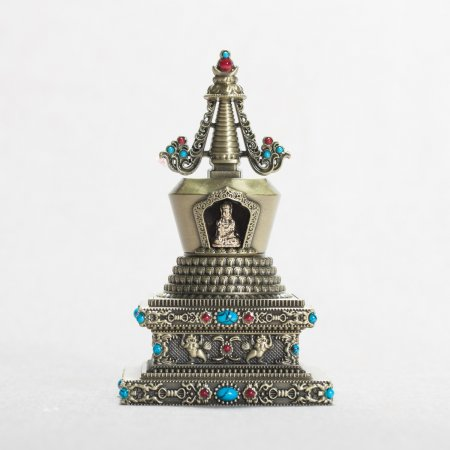 "Buddhist figurine Lotus Blossom aka ""Birth of the Sugata"" Stupa : buy from our tibetan statues collection — DharmaCraft"