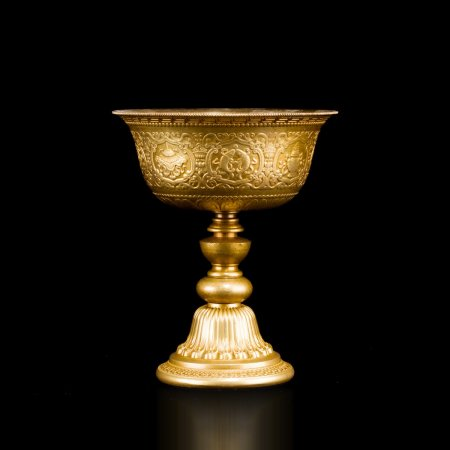 Buddhist Butter Lamp made from tombac, big size : buy from our Tibetan ritual goods collection — DharmaCraft