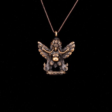 "Tibetan Traditional Pendant ""Garuda"" small but finely carved. Buy from our Buddhist adornments & decor collection — DharmaCraft"