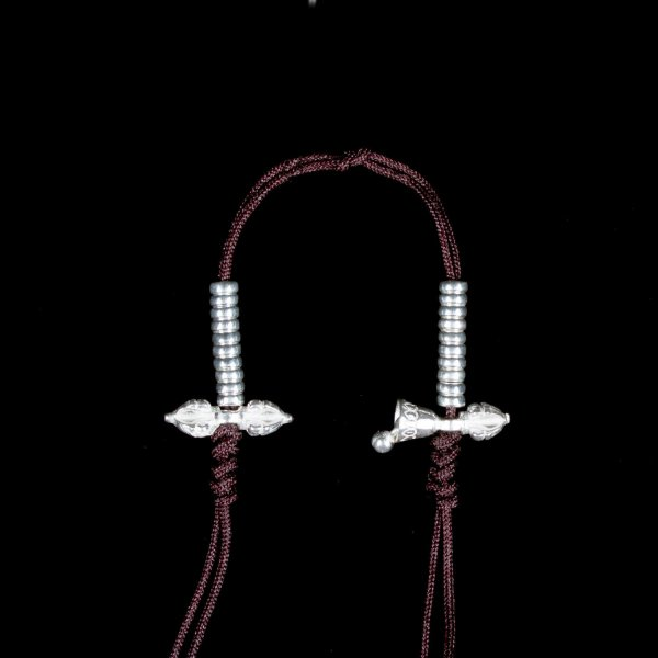 Tibetan Mala Counter made from Silver, tiny size — 3 mm : buy from our Buddhist ritual goods collection — DharmaCraft