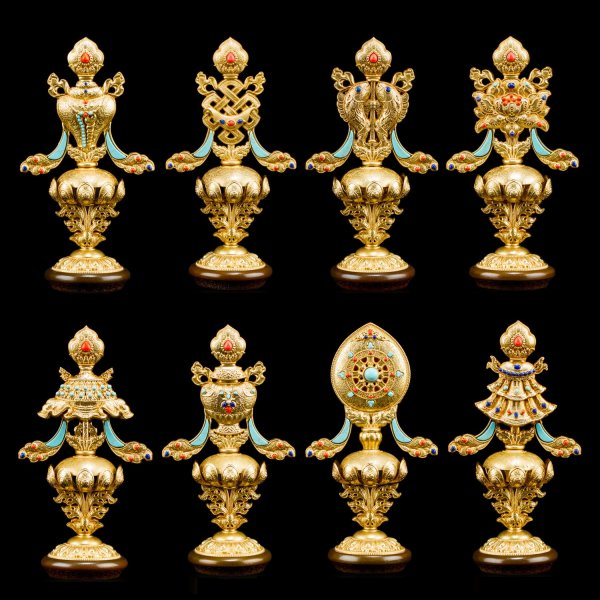 Ashtamangala Eight Auspicious Symbols — 16.5 cm