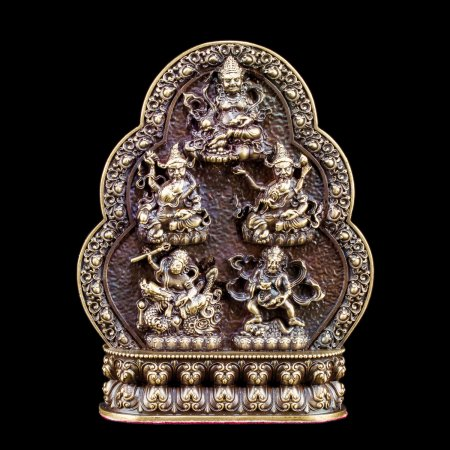 Five Jambhalas, the Gods of Wealth - 11 cm figurine