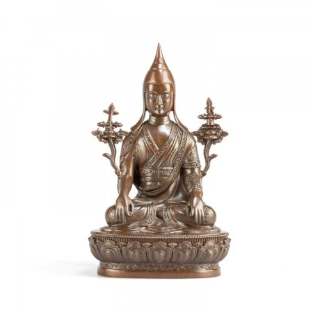 Tibetan bronze statue Longchenpa (Longchen Rabjampa) medium size : buy from our Buddhist statues collection — DharmaCraft