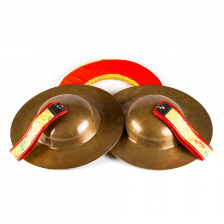 Tibetan traditional cymbal Rolmo for wrathful deities, High Quality alloy : buy from our Buddhist ritual goods collection