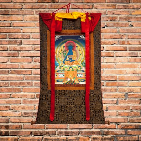"Tibetan Buddhist Art : Thangka ""Medicine Buddha (Menla)"" — buy from our Images of enlightenment collection"